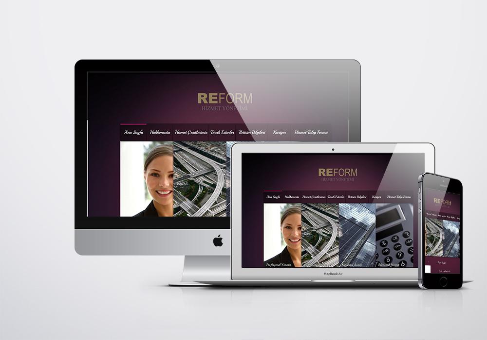 Reform Hizmet Yönetimi Kurumsal Web Sitesi