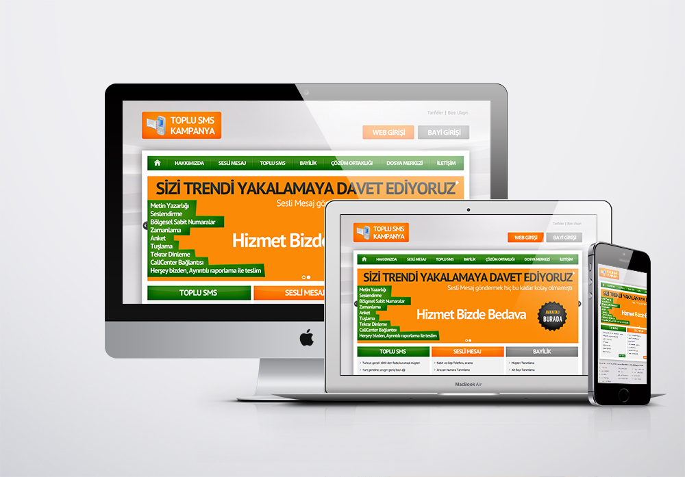 Toplu SMS Kampanya Kurumsal Web Sitesi