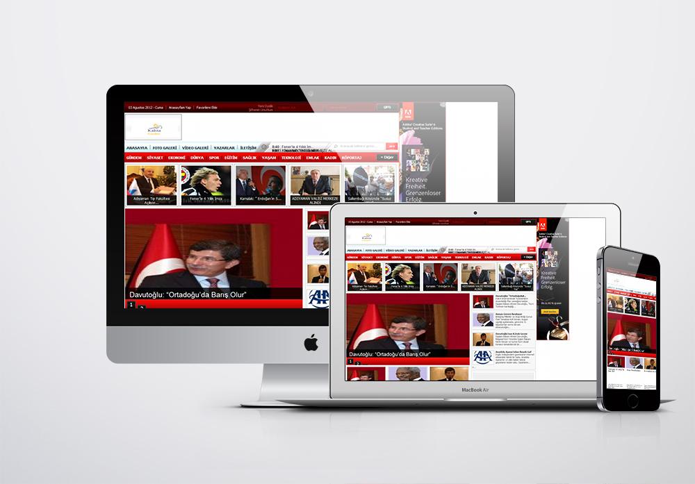 Kahta Gündem Kurumsal Web Sitesi