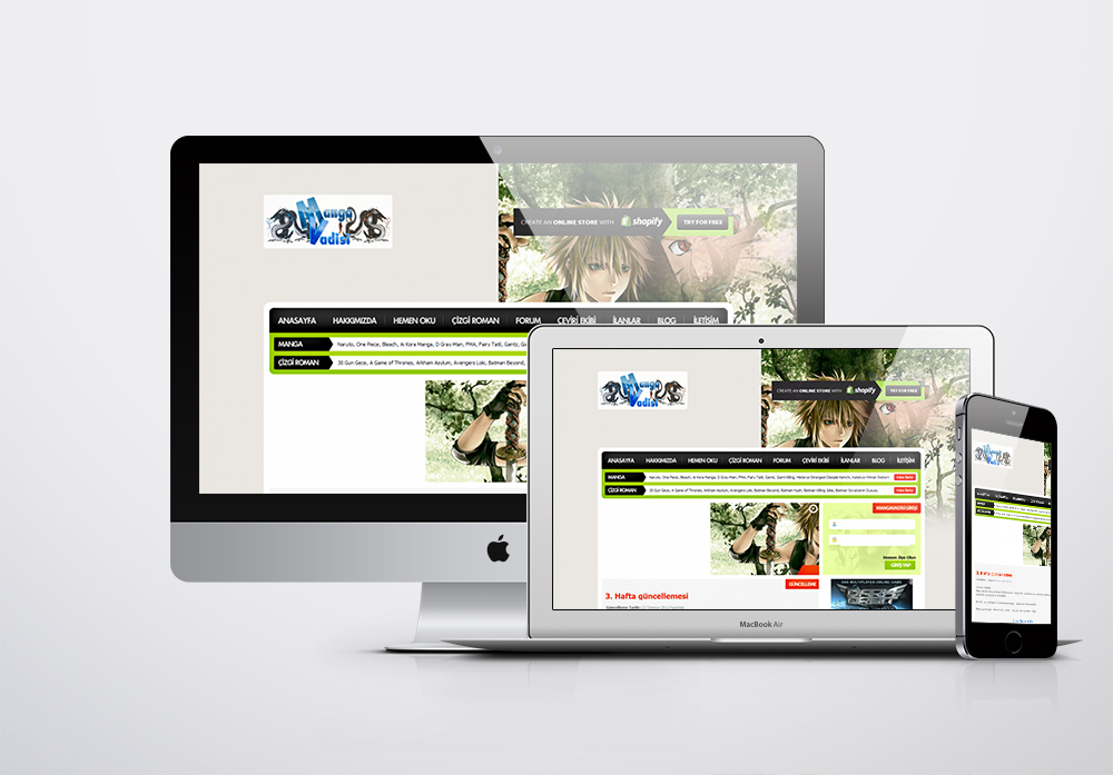 MangaVadisi Portal Kurumsal Web Sitesi