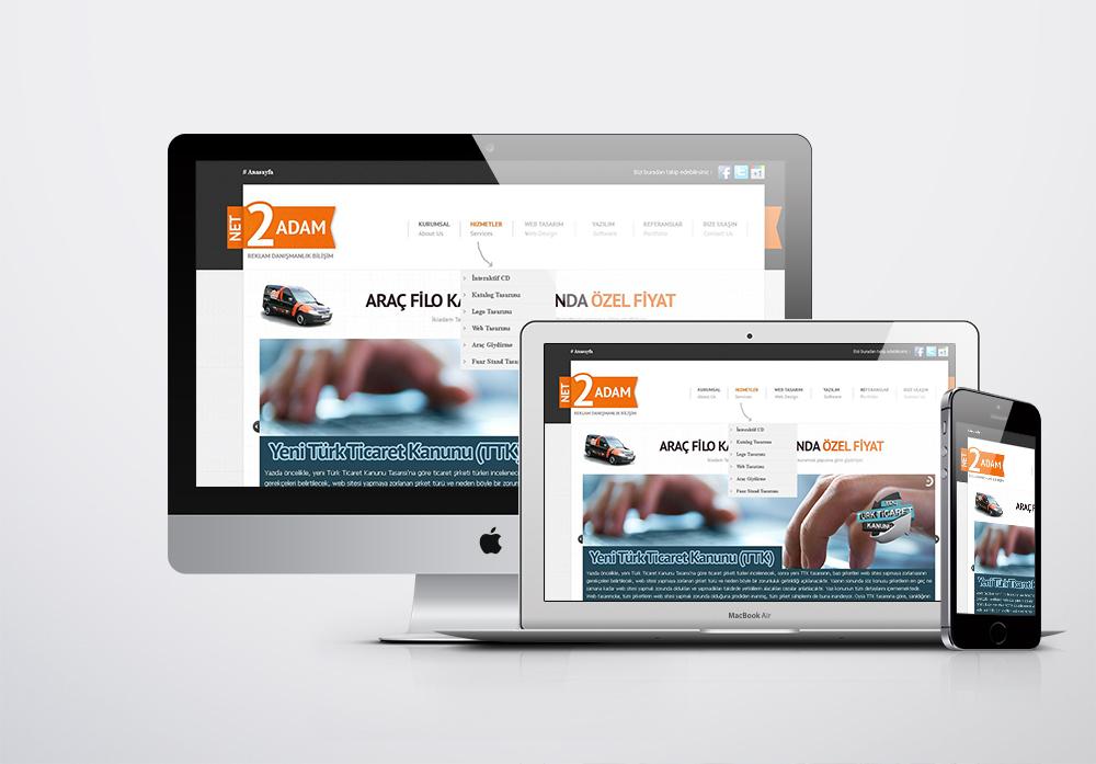 2Adam Reklam Kurumsal Web Sitesi